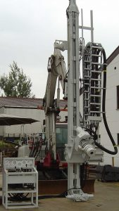excavator-mounted drilling machine